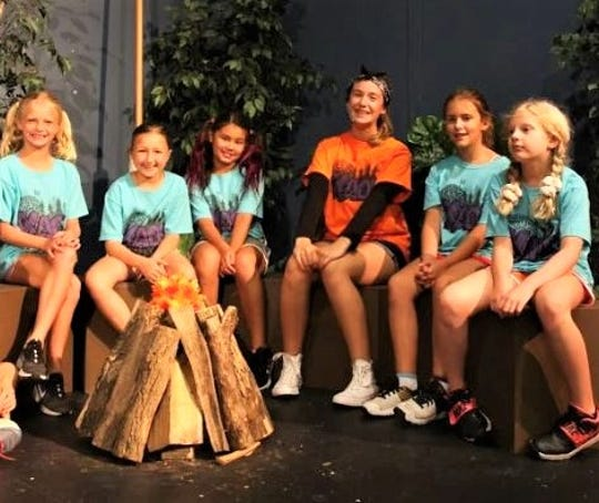 "Cast members of the Fremont Community Youth Theatre's ""Kamp KAOS""."