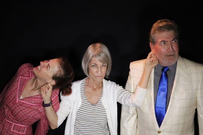 "Lab Theater's  ""D.M.V."" stars (left to right) Stacy Stauffer, Gerri Benzing and Art Keene."