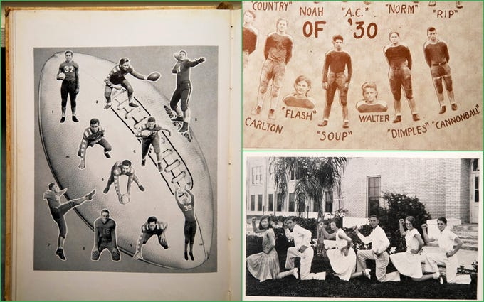 Cool nicknames, legendary players and cheerleaders made 1930s Fort Myers High School football fun.