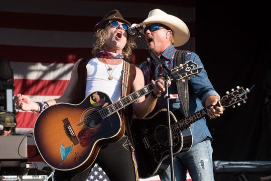 Big Kenny, left, and John Rich of Big & Rich will play a free concert outside Lambeau Field at 5 p.m. Sept. 14.