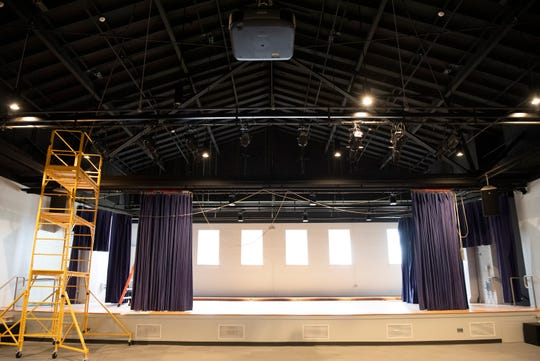 The stage in the new Center for the Arts in Greer Wednesday, July 31, 2019.