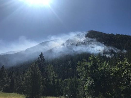 The Beeskove Fire near Missoula was reportedly burning at over 200 acres as of late Tuesday.