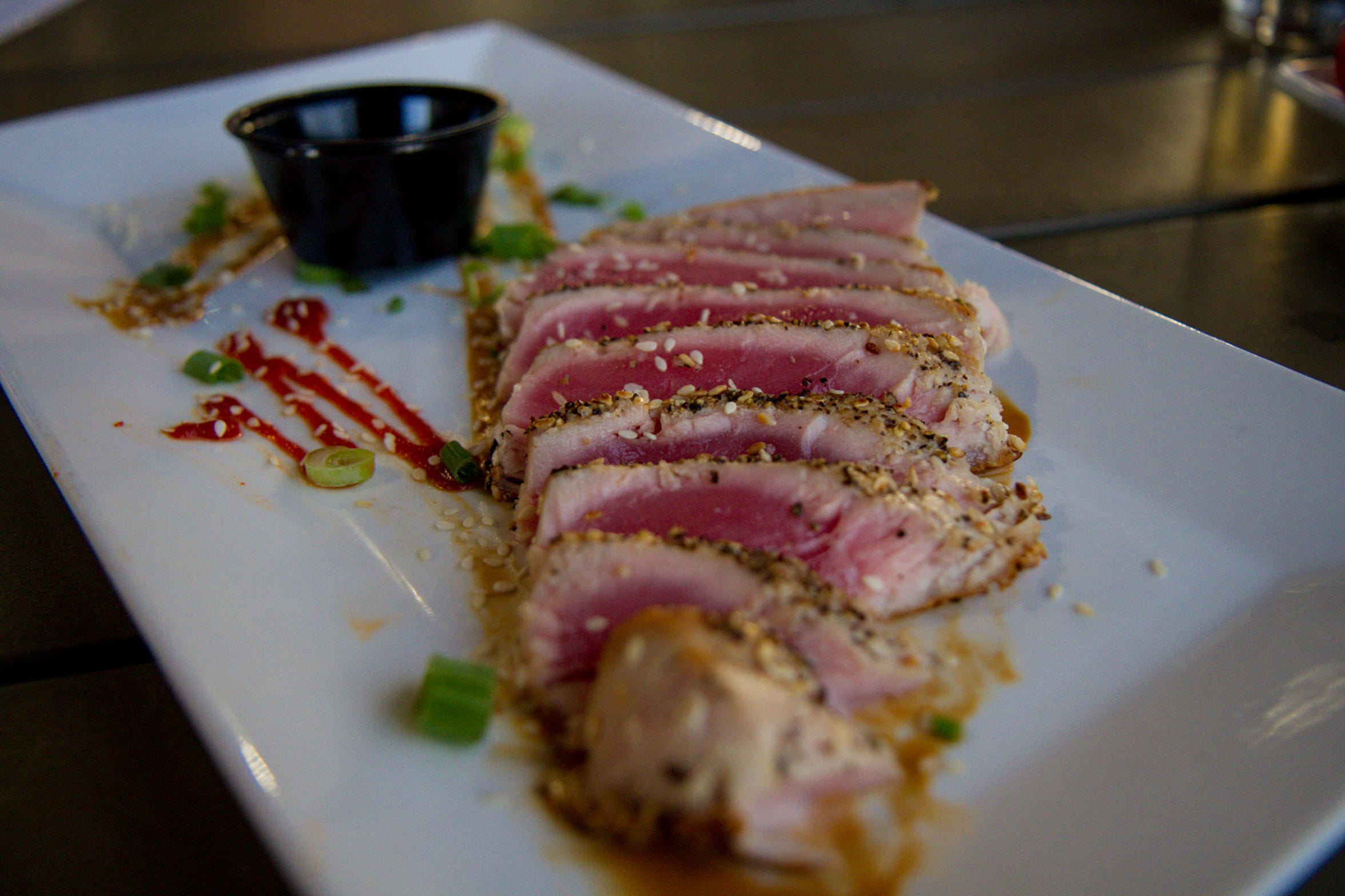 Pan Seared Ahi at Central Feed Grilling Company in Lewistown