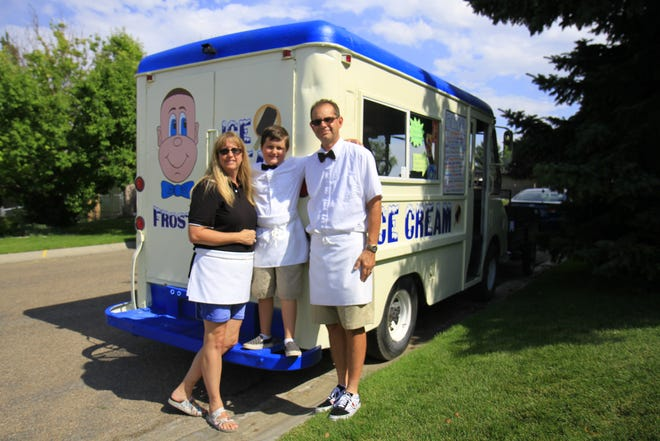 Michelle, Benjamin and Darren Brown with their Frosty of Montana truck