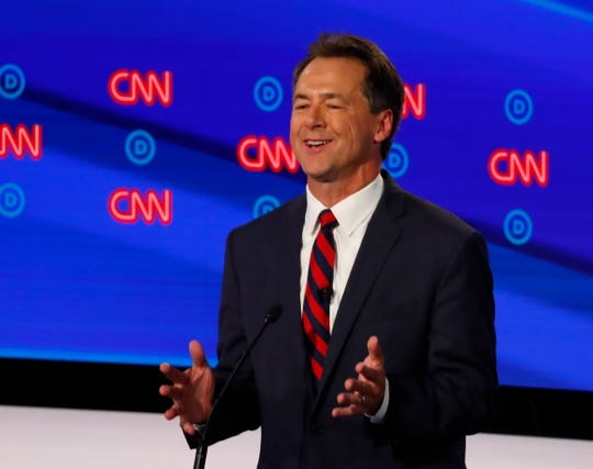 Montana Gov. Steve Bullock participates in the first of two Democratic presidential primary debates hosted by CNN Tuesday in the Fox Theatre in Detroit.