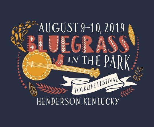 Official 2019 logo for Bluegrass in the Park Folklife Festival