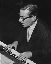 Hoagy Carmichael,at The indianapolis Press Club in the late 1940s.