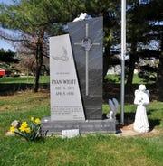 Ryan White's grave in the Cicero Cemetery in Cicero, Ind.,