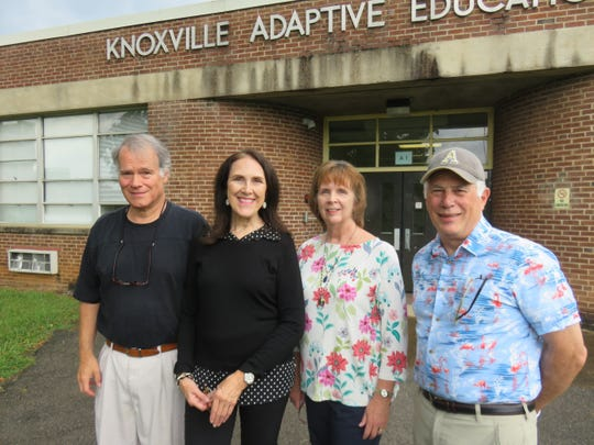 Members of the Bearden High Class of 1969 on July 22: Tom Rowland, Judy Zachary Fenton, Janice Mahlman Moore, and Larry Bronstein. The group is planning a 50-year reunion for mid-October.