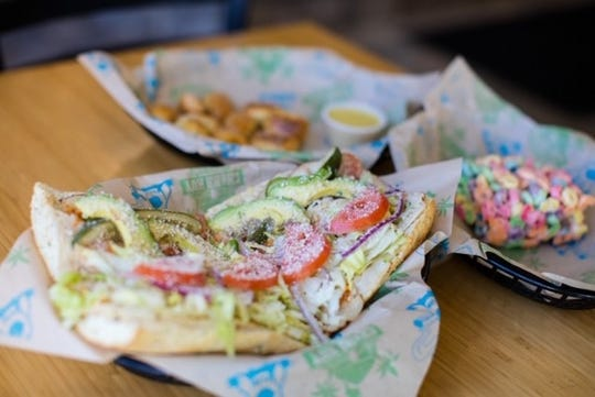 Cheba Hut's Kali Mist is a California club made with roasted turkey breast, chipotle mayo, fresh jalapenos, bacon, pepper jack and avocado. The marijuana-themed fast-casual restaurant has identified East Lansing as a prime target for additional locations.