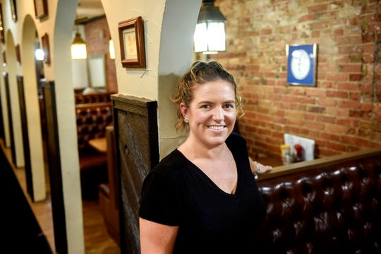 Autumn Weston, photographed on Tuesday, July 16, 2019, is the owner of Weston's Kewpee Burger in Lansing. Weston uses the same olive sauce recipe that her great-grandmother created in the 1920s.