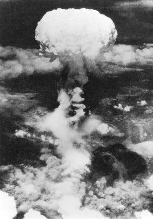 "Atomic bomb blast over Nagasaki ""Rain of Ruin: The Bombing of Nagasaki"" (PBS)."