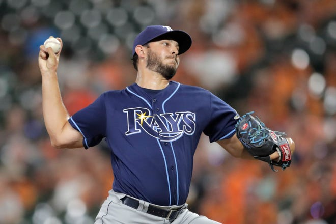 A former starter, Jake Faria has pitched in relief for the Tampa Bay Rays this season.