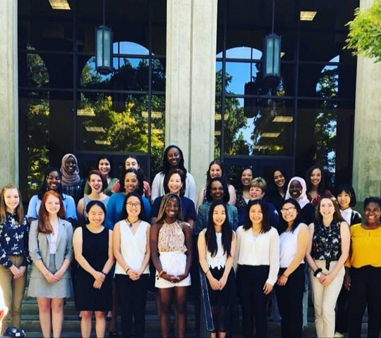 Renata Krieger (third row, fifth from left) is pictured here with her fellow KPMG Future Leaders participants at Stanford University.