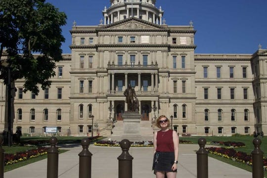Lansing, Michigan was the first stop on Emily Topczewski's 16-month journey to every state to create a voting documentary.
