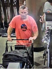 City of Brookfield Police are seeking this man wanted for allegedly stealing golf clubs at Dick's Sporting Goods in Brookfield on July 27.