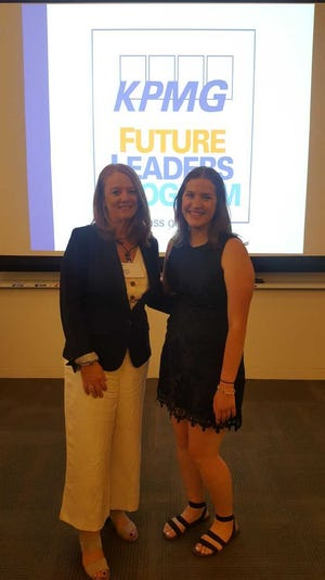 Renata Krieger (right) is pictured here with her KPMG mentor Laura Krause (left) during the KPMG Future Leaders Program she attended in July at Stanford University in Palo Alto, California.