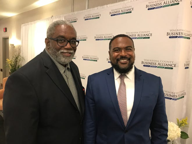 Jim Milner, left, was named chief diversity and intentional inclusion adviser of the Milwaukee 2020 Host Committee and Lafayette Crump was named vice president of diversity, vendor accountability and growth.