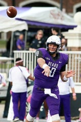 Luke Hales passed for 1,857 yards and 18 touchdowns, with eight interceptions. He completed 120 of 247 passes in his sevenstarts at quarterback.