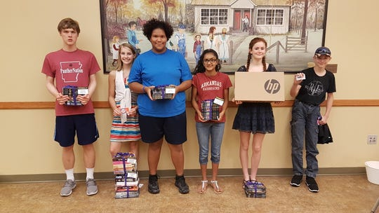 Winners of the Teen Summer Reading Program won fantastic prizes such as book sets, movie sets, gifts cards, and even a laptop!