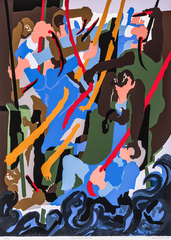 """Jacob Lawrence, Revolt on the Amistad, silkscreen on paper, 40.125"""" x 32.125"""", 1989. © 2019 The Jacob and Gwendolyn Knight Lawrence Foundation, Seattle/Artists Rights Society (ARS), New York"""