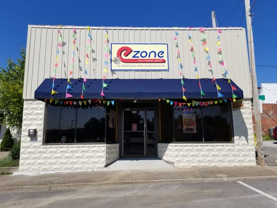 The new eZone restaurant in Downtown Dickson, which serves rolled ice cream, poke bowls, and milk teas.