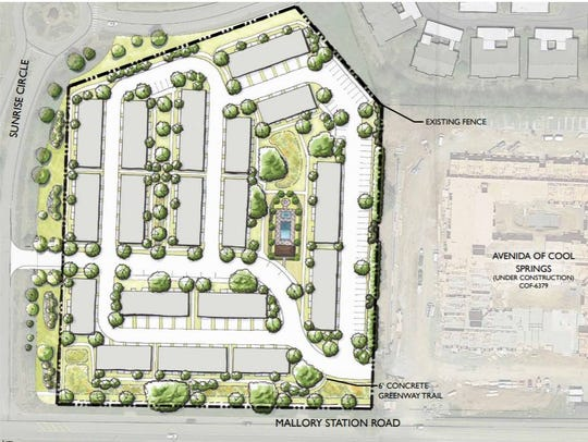 An apartment complex has been proposed for Mallory Station Road on 6 acres next to Avenida of Cool Springs.