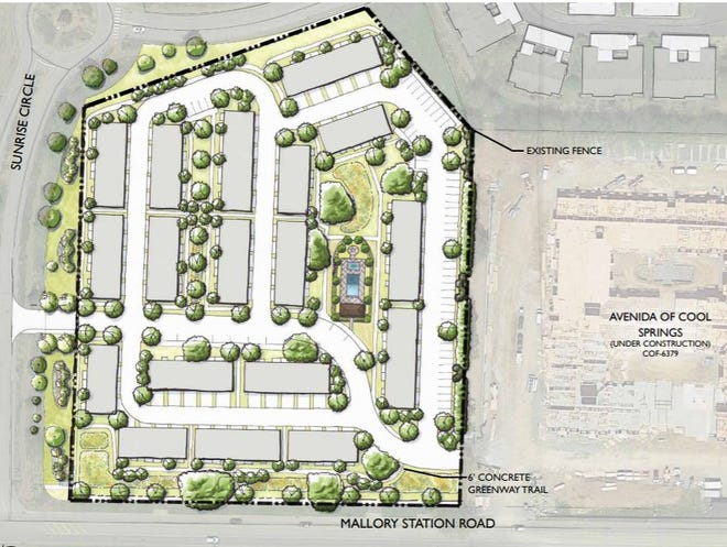 An apartment complex has been proposed for Mallory Station Road on 6 acresnext to Avenida of Cool Springs.