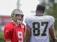 Drew Brees and newest target Jared Cook using training camp to develop chemistry