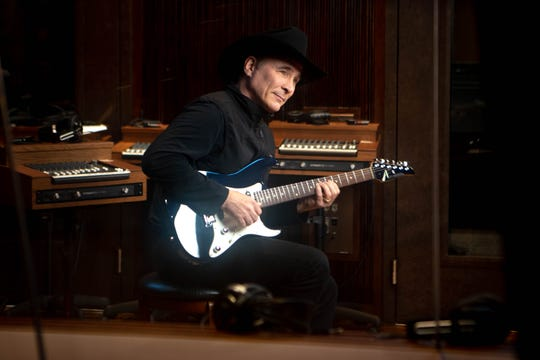Clint Black poses for a photo at his studio Wednesday, July 31, 2019, in Nashville, Tenn.