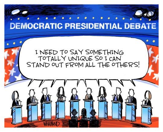 Democrats' debate.