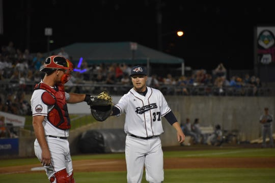 Rick Teasley threw nine perfect innings for the Somerset Patriots.