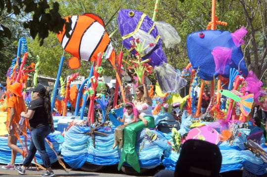 """Last year's parade theme was """"Under the Sea - Racing the Tide."""