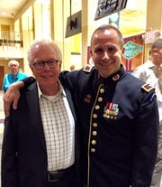 James Bonnell With Colonel James R. Keene Conductor Of The US Army Field Band