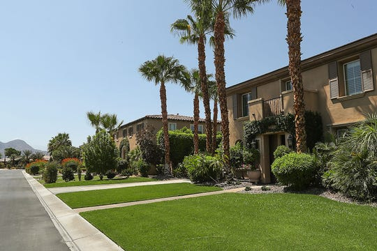 Homes in The Orchard housing development in Indio, July 31, 2019.