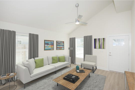 Vaulted ceilings in the model home offer a spacious feel.