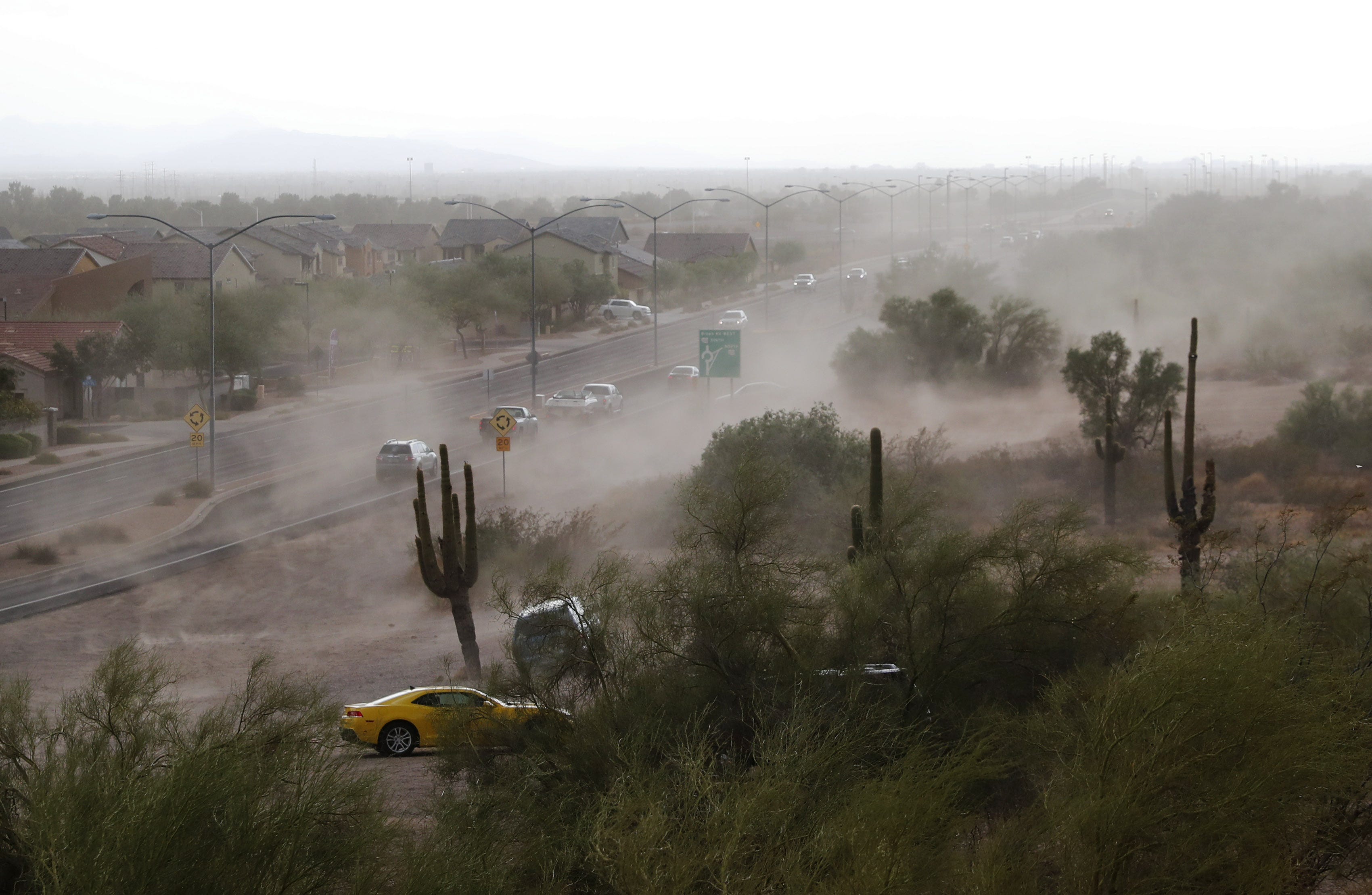 Monsoon retreats, then an isolated downpour in Southeast Valley
