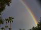 Un hermoso arcoiris puede observarse sobre Mesa, Arizona, luego de las tormentas registradas el 30 de julio de 2019.