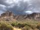 Lluvias tupen el cielo de Mesa, Arizona, previo a la tormenta monzónica el 30 de julio de 2019.