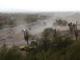 Fuertes vientos y polvareda pasó por la ciudad de Mesa, Arizona, el 30 de julio de 2019.