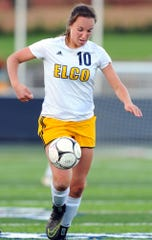 Ryelle Shuey's considerable soccer skills helped the Elco girls to section, league and district title last season.
