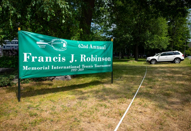 The Francis J. Robinson Memorial International Tennis Tournament, now in its 62nd consecutive year, started Wednesday. Play will continue through Sunday evening.