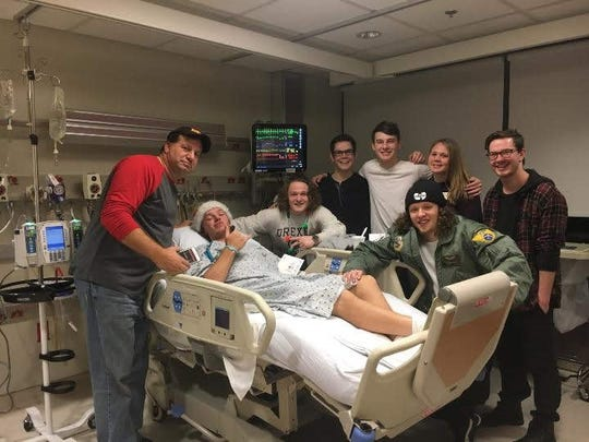 Ben Bills is shown in the hospital after being diagnosed with diabetes.