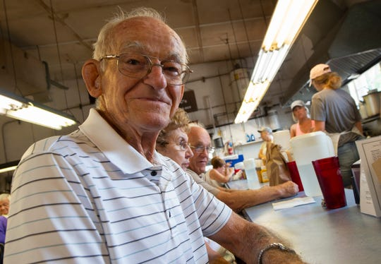 Royal Wetzel of West York has been eating at the chicken pot pie stand inside the Eastern Market for 35 years. The stand, now Jimmy C's, changed ownership in January 2019.
