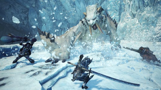 Barioth in Monster Hunter World Iceborne.