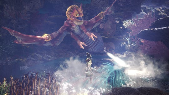 Coral Pukei Pukei Monster Hunter World Iceborne.
