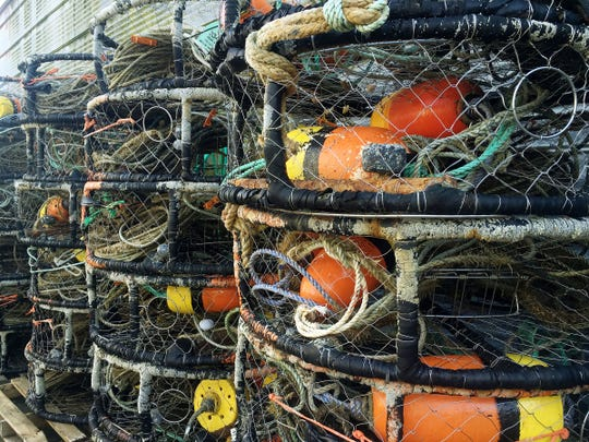 Crab pots are one of the many items among the fishing debris left in the ocean each year. Fisherman have options as a program called Fishing for Energy provides large bins for disposal and then transports the items to recycling partners.