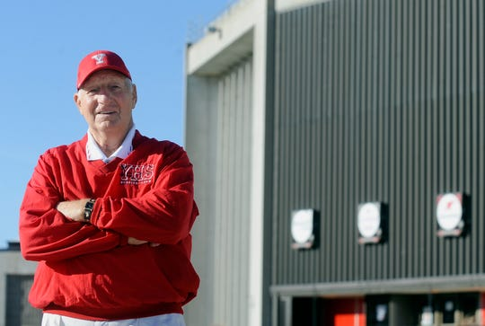 Former Yankton head football coach, Max Hawk leads the state in all time wins. Hawk also coached the Bucks to their 1994 overtime championship win over Rapid City Stevens at the DakotaDome.