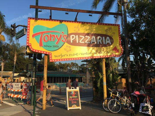 Tony's Pizzaria in downtown Ventura is a local-favorite spot for those going to, and coming from, the Ventura County Fair. After six years at its original Figueroa Plaza location, it moved to its current address in 1965. It added a beer and wine license this spring.