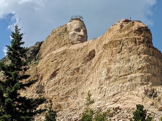 """""""My fellow chiefs and I would like the white man to know the red man has great heroes, too."""" Lakota Chief Henry Standing Bear thus requested a now famous sculptor to carve a Crazy Horse Memorial not far from Mt. Rushmore. After 70 years, it's still a work in progress."""